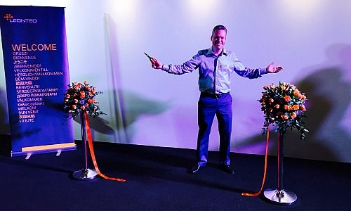 Jan Schoch, CEO of Leonteq, at the Ribbon-cutting ceremony in Singapore