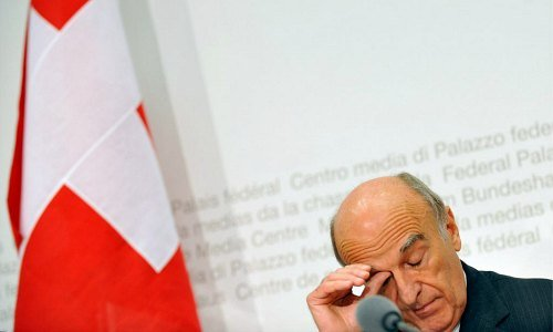 Swiss finance minister, Hans-Rudolf Merz, UBS, bailout, heart attack